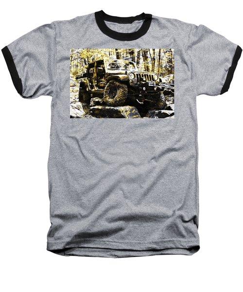 Silver And Gold Jeep Wrangler Jku Baseball T-Shirt