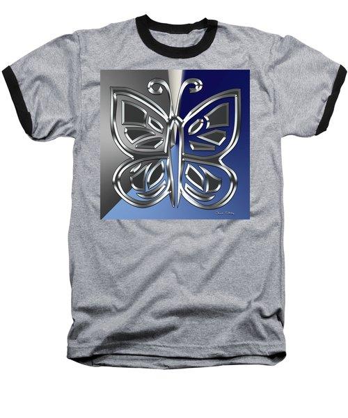 Silver Butterfly Baseball T-Shirt