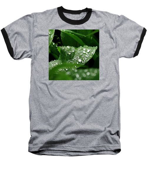 Baseball T-Shirt featuring the photograph Silver Drops Of Spring by Al Fritz