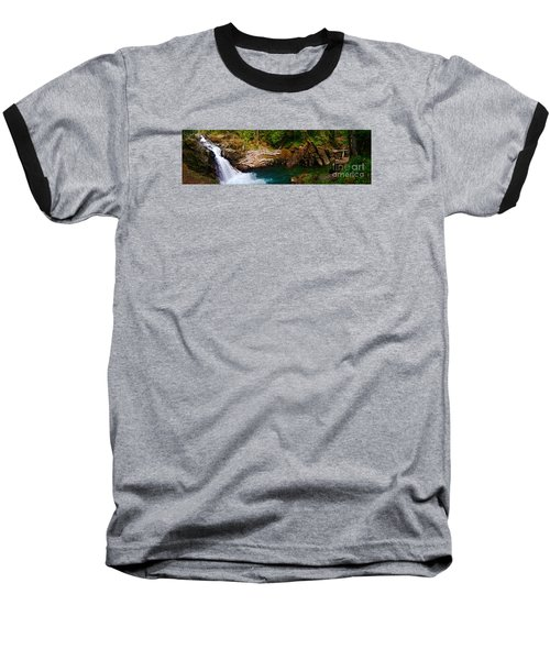 Silver Falls Panorama Baseball T-Shirt by Sean Griffin