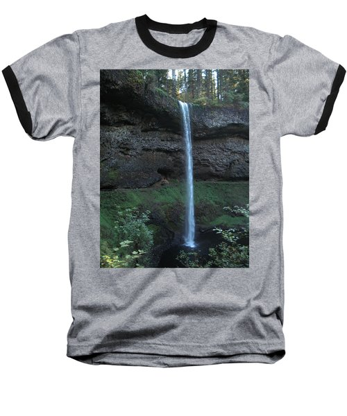 Baseball T-Shirt featuring the photograph Silver Falls by Thomas J Herring