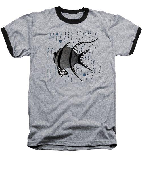 Silver Fish Baseball T-Shirt