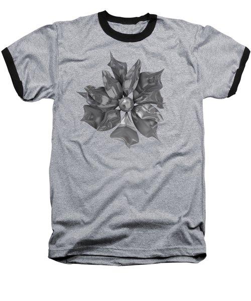 Silver Flower Baseball T-Shirt