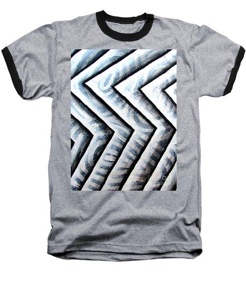 Silver Glass Waves Study 1  Baseball T-Shirt