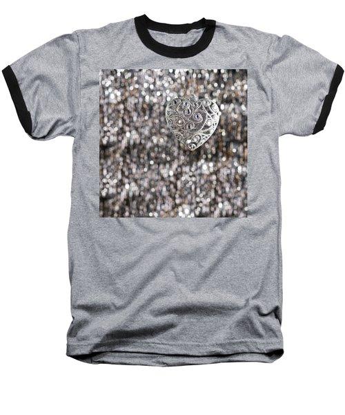 Baseball T-Shirt featuring the photograph Silver Heart by Ulrich Schade