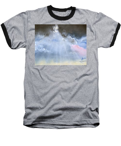 Silver Lining Behind The Dark Clouds Shining Baseball T-Shirt by Jane Autry
