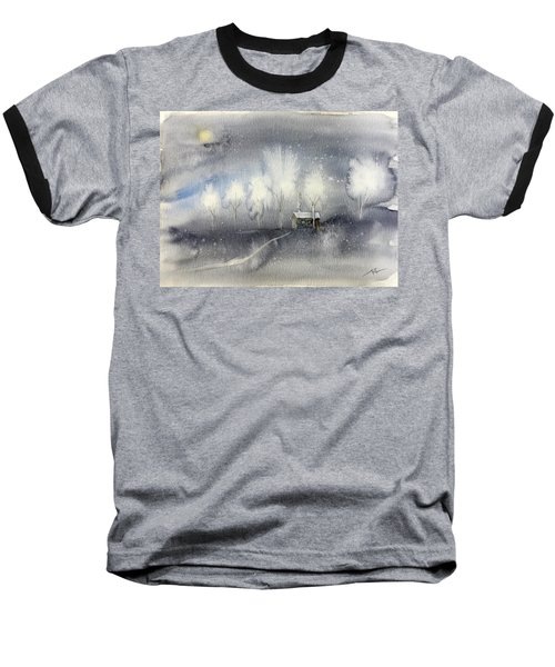 Silver Night Baseball T-Shirt