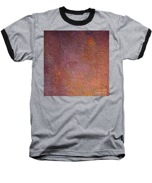 Baseball T-Shirt featuring the mixed media Silver Plum by Michael Rock