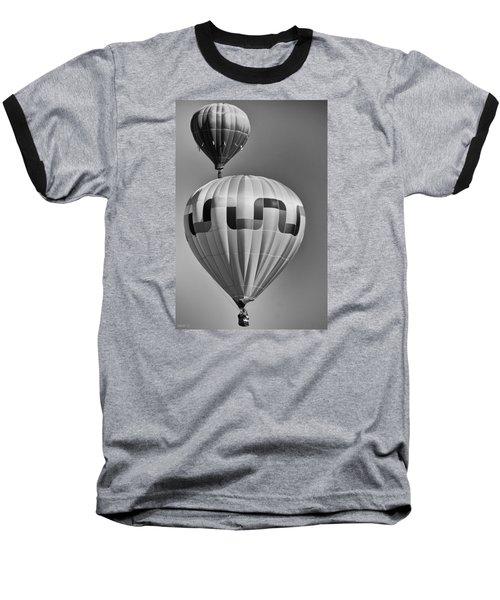 Silver Sky Balloons Baseball T-Shirt by Kevin Munro