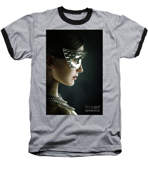 Baseball T-Shirt featuring the photograph Silver Spike Beauty Mask by Dimitar Hristov