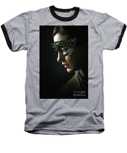 Baseball T-Shirt featuring the photograph Silver Spike Eye Mask by Dimitar Hristov