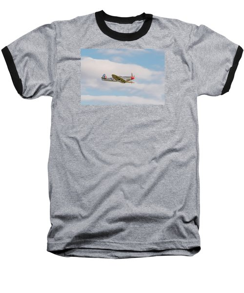 Silver Spitfire Baseball T-Shirt by Gary Eason