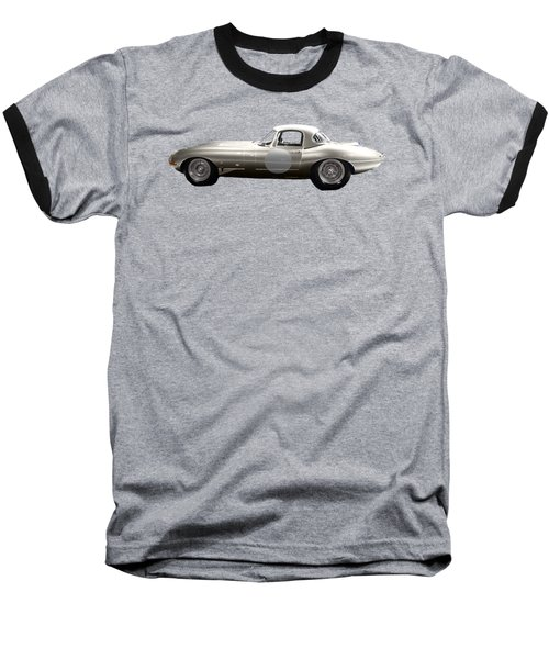 Silver Sports Car Art Baseball T-Shirt