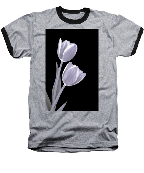 Silver Tulips Baseball T-Shirt