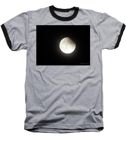 Silver White Eclipse Baseball T-Shirt