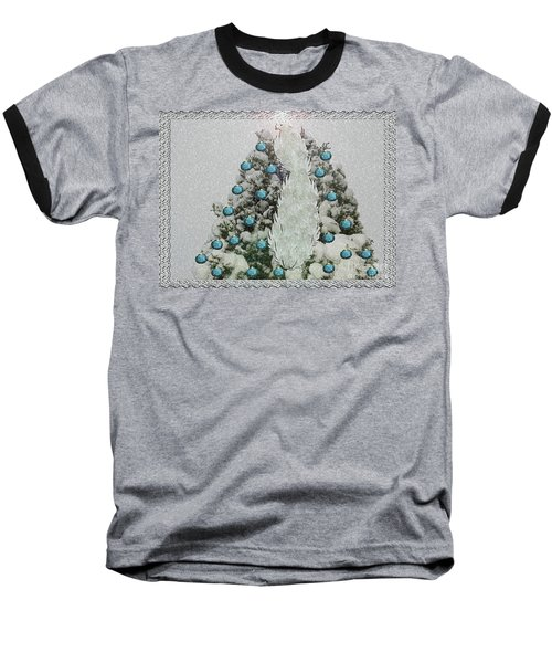 Silver Winter Bird Baseball T-Shirt