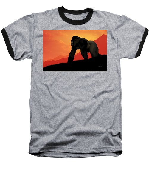 Silverback Gorilla Baseball T-Shirt by John Wills