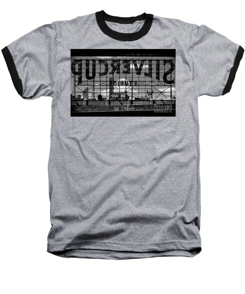 Silvercup Studios Sign Backside Baseball T-Shirt