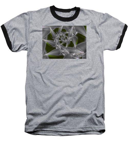 Baseball T-Shirt featuring the digital art Silverleaves by Karin Kuhlmann