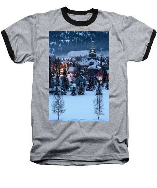 Silverton At Night Baseball T-Shirt
