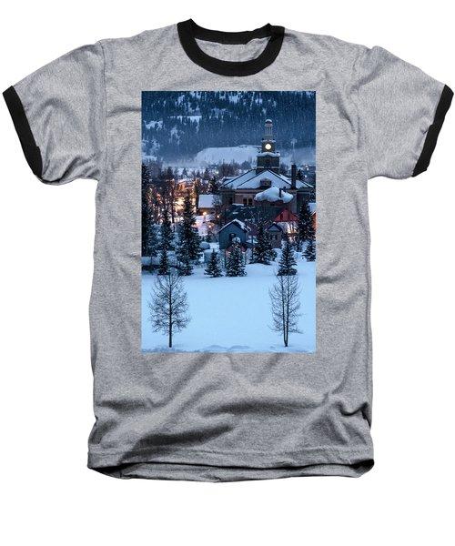 Silverton At Night Baseball T-Shirt