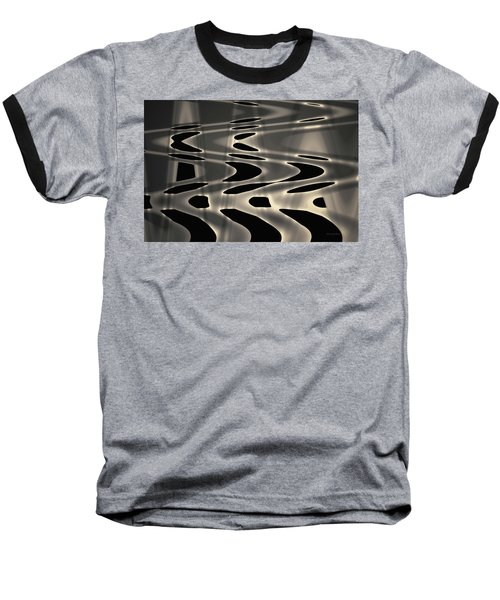 Silvery Abstraction Toned  Baseball T-Shirt