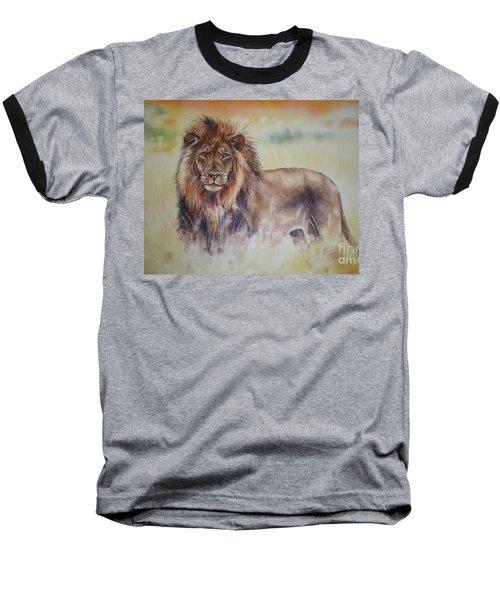 Baseball T-Shirt featuring the painting Simba by Sandra Phryce-Jones