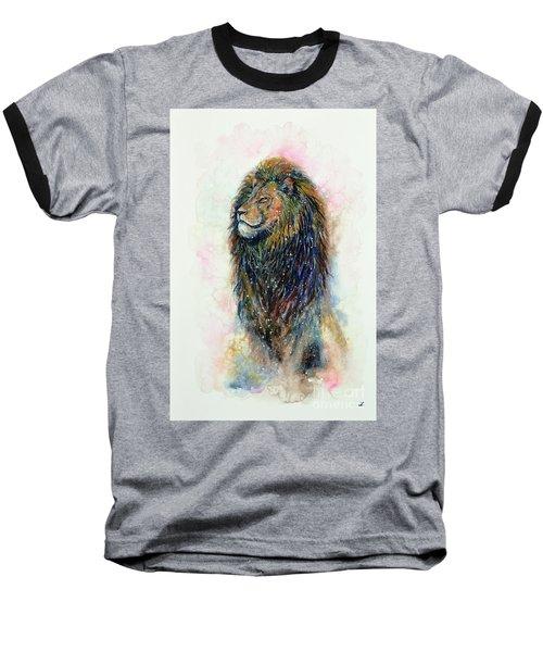 Baseball T-Shirt featuring the painting Simba by Zaira Dzhaubaeva