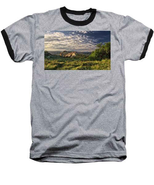 Simi Valley Overlook Baseball T-Shirt by Endre Balogh