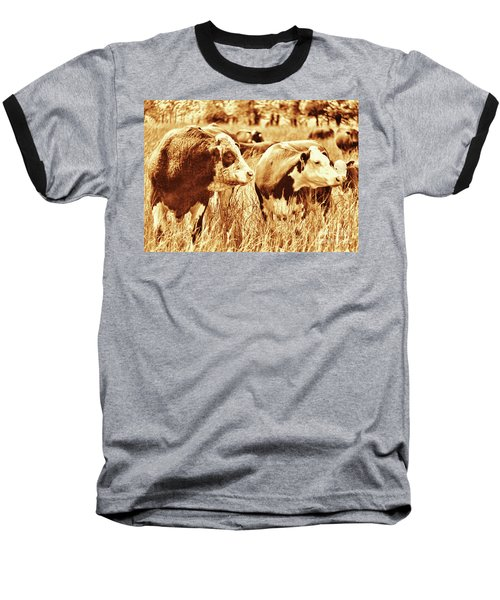 Baseball T-Shirt featuring the photograph Simmental Bull 3 by Larry Campbell