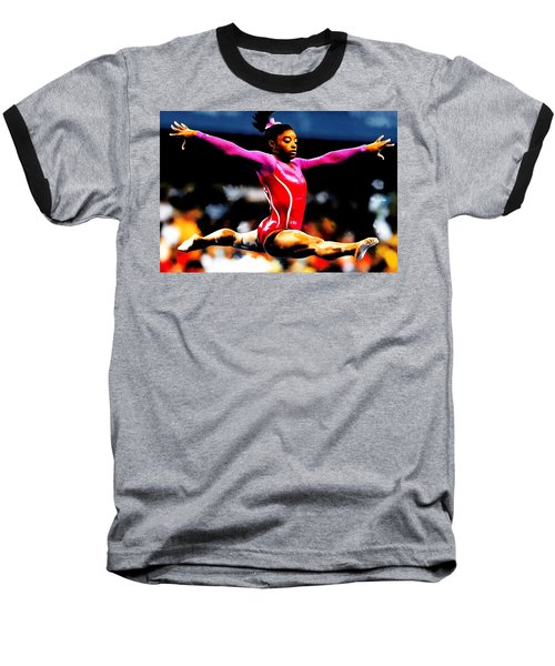 Simone Biles Baseball T-Shirt by Brian Reaves