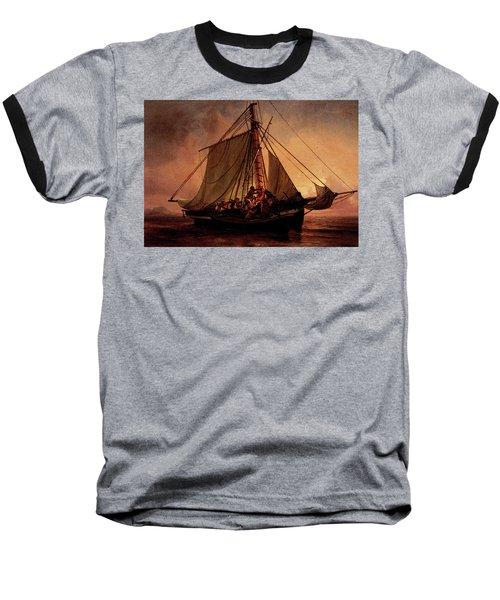 Simonsen Niels Arab Pirate Attack Baseball T-Shirt by Niels Simonsen