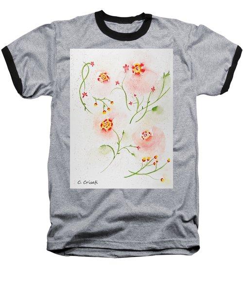 Simple Flowers #2 Baseball T-Shirt by Carol Crisafi