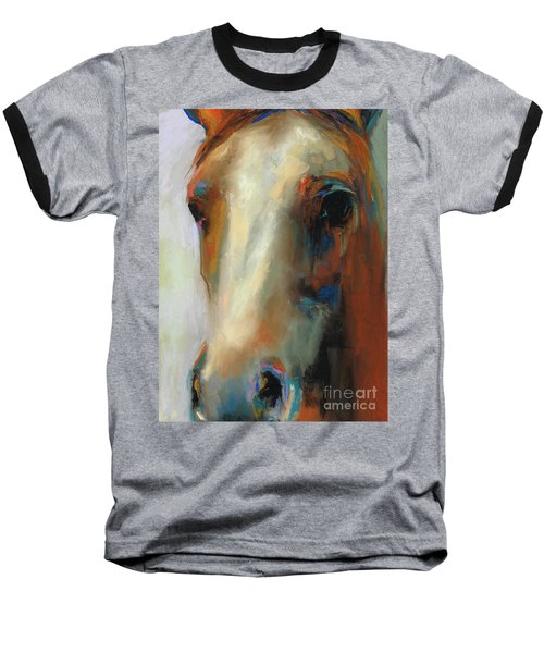 Simple Horse Baseball T-Shirt by Frances Marino