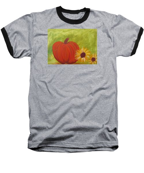 Simple Lone Pumpkin Baseball T-Shirt