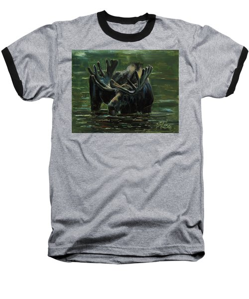 Baseball T-Shirt featuring the painting Simple Pleasures by Billie Colson