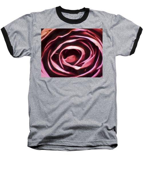 Simple Rose Baseball T-Shirt