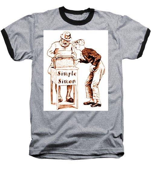 Simple Simon Mother Goose Vintage Nursery Rhyme Baseball T-Shirt