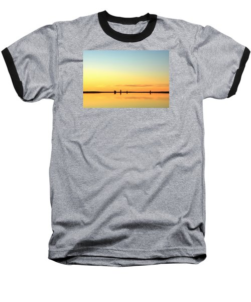 Simple Sunrise Baseball T-Shirt by Fiskr Larsen