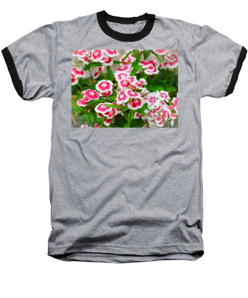 Simply Flowers Baseball T-Shirt by Rand Herron