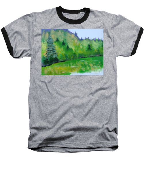 Baseball T-Shirt featuring the painting Simply Green by Rod Jellison