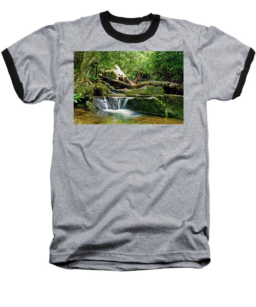 Sims Creek Waterfall Baseball T-Shirt