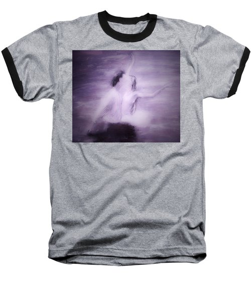 Baseball T-Shirt featuring the painting Swan Lake by Jarko Aka Lui Grande
