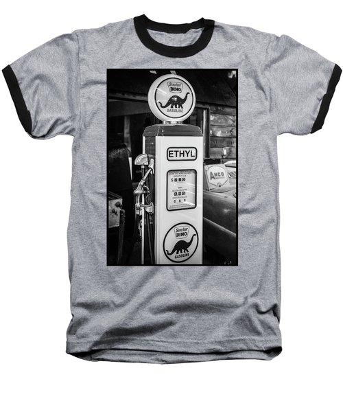 Sinclair Dino Gas Pump Baseball T-Shirt