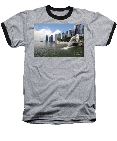 Singapore Baseball T-Shirt by Charuhas Images