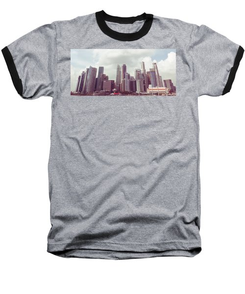 Baseball T-Shirt featuring the photograph Singaport Cityscape The Second by Joseph Westrupp