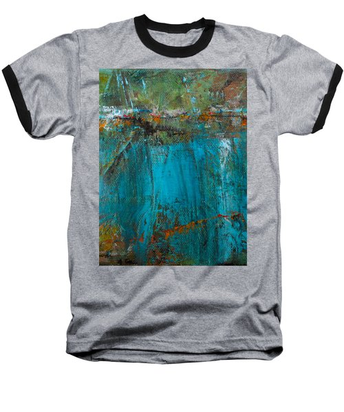 Baseball T-Shirt featuring the painting Singin' With Blues by Mary Sullivan