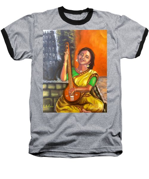 Singing @ Sunrise  Baseball T-Shirt by Brindha Naveen