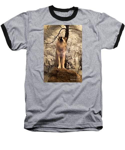 Singing A Soulful Tune Baseball T-Shirt by William Fields