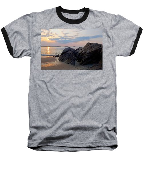 Singing Beach Rocky Sunrise Manchester By The Sea Ma Baseball T-Shirt